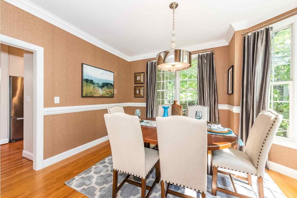 Staging Lilac Road Dining Room