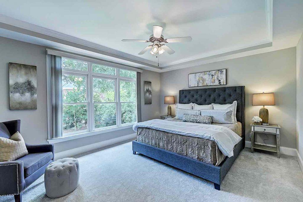 Staging Strickland Court Master Bedroom