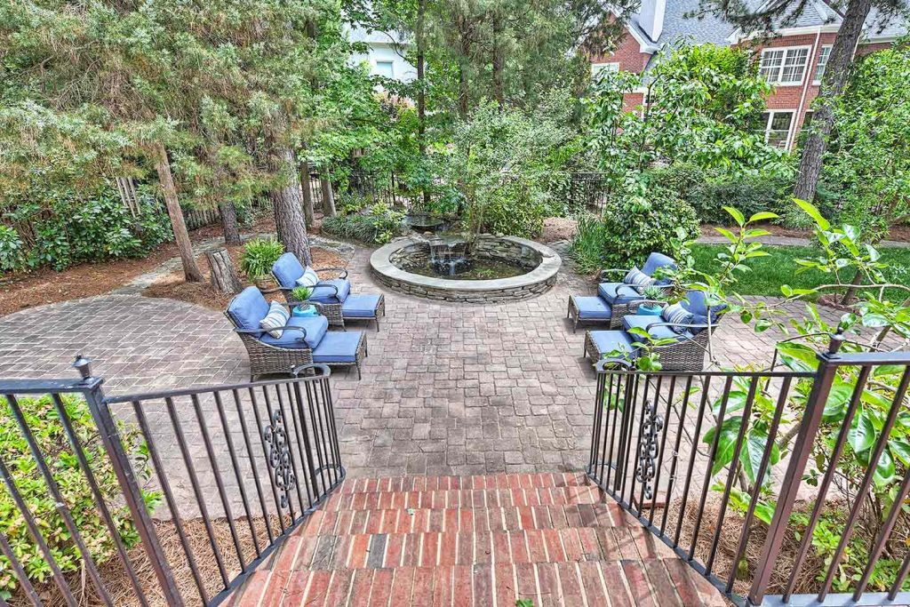 Staging Strickland Court Patio Aerial