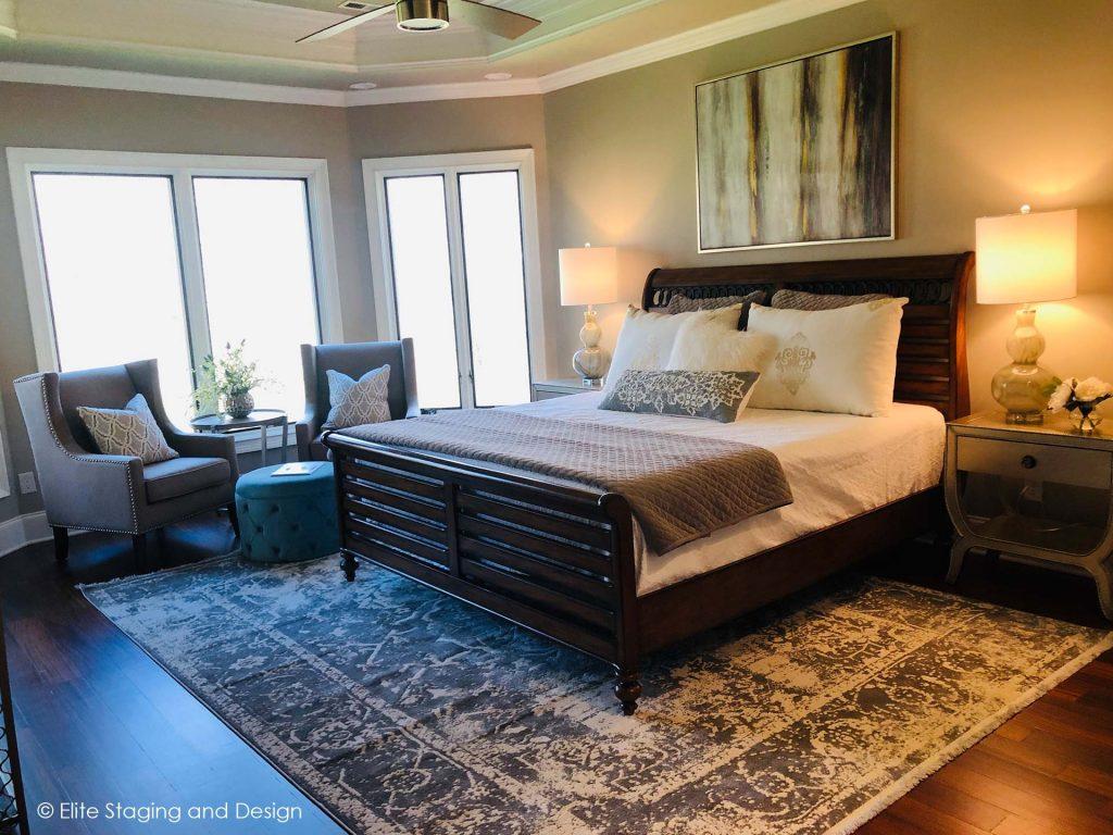 Elite Staging and Design Portfolio Master Bedroom Staging