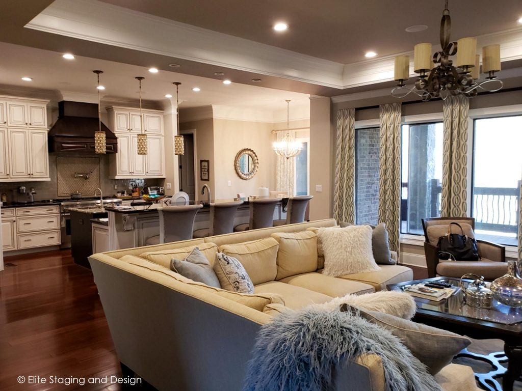 Elite Staging and Design Portfolio Family Room Staging